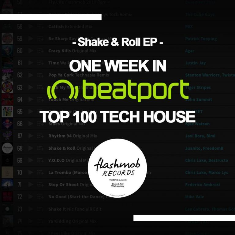 One week sited in Beatport TOP 100 Tech House !