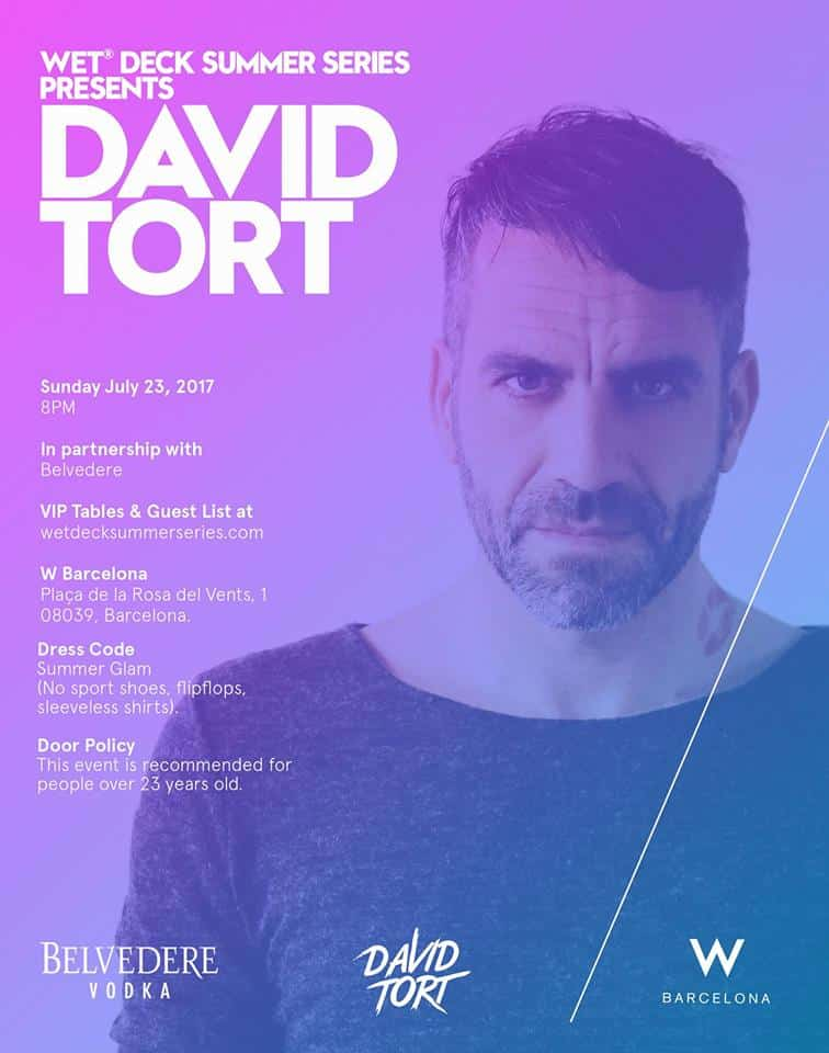David Tort Juanito W Hotel Barcelona Wet Deck Summer Series