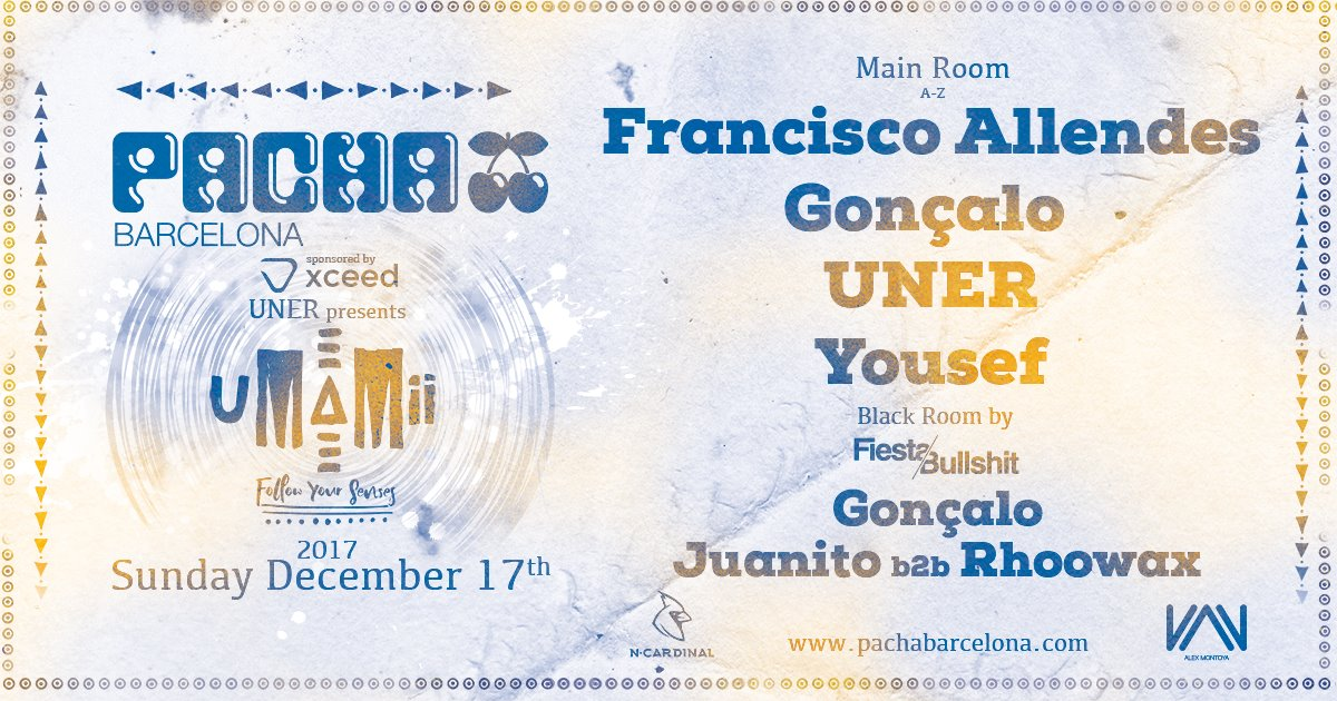Pacha Barcelona, December 17th !