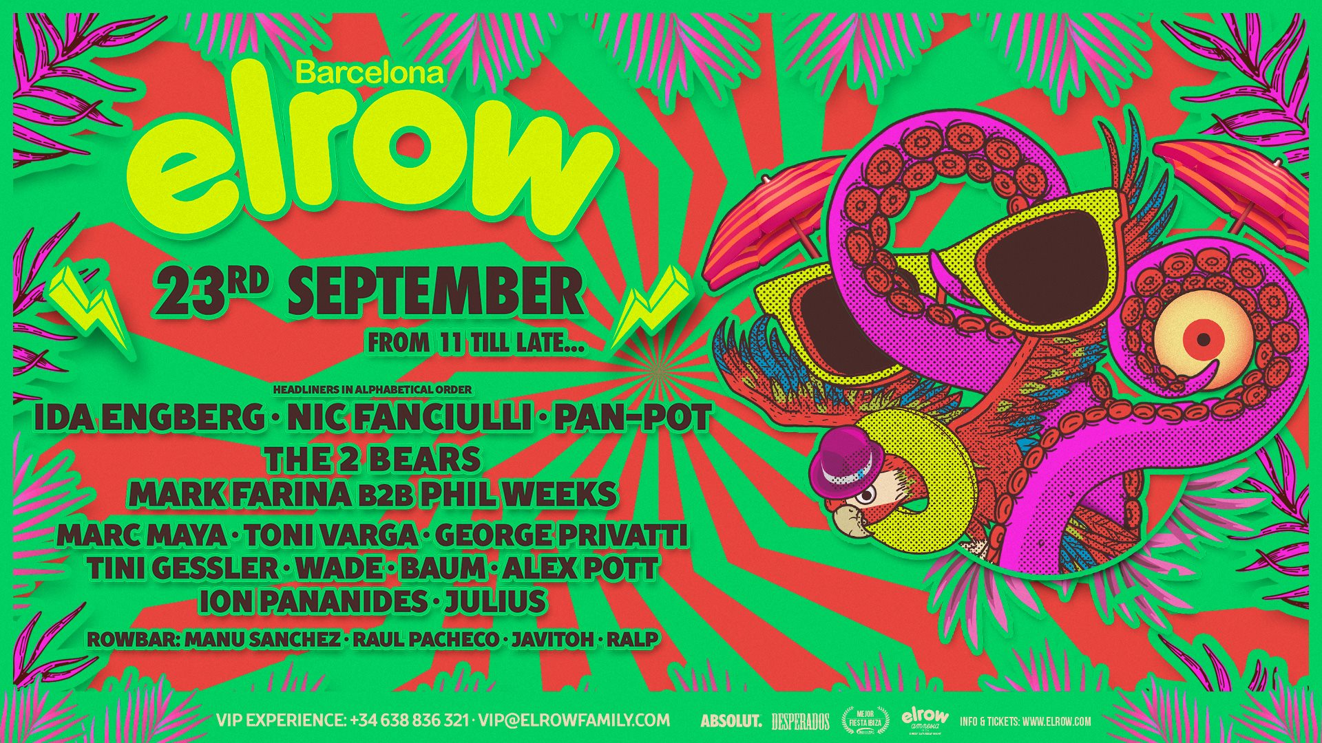 Wade @ elrow Barcelona – Supporting 'Shake & Roll'