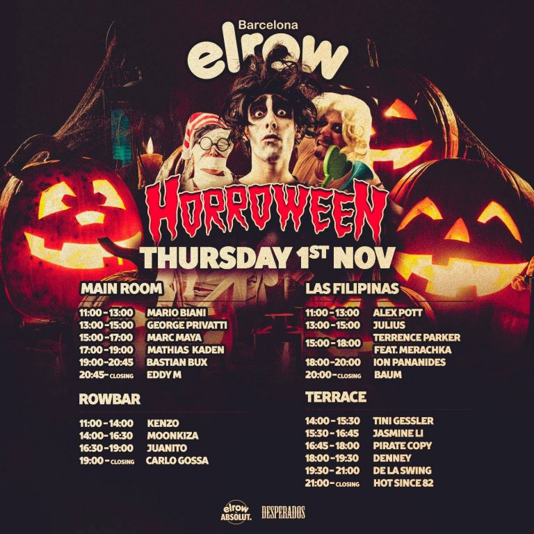 Set times for elrow !